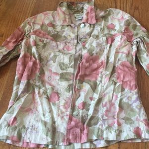 Coldwater creek small button down floral top